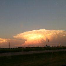 Backlit storm